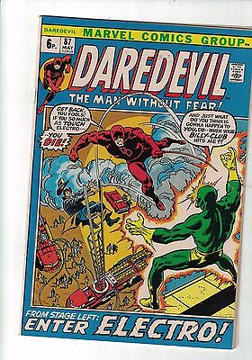 Marvel Comic Daredevil no 87 May 1972  FROM STAGE LEFT...ENTER ELECTRO