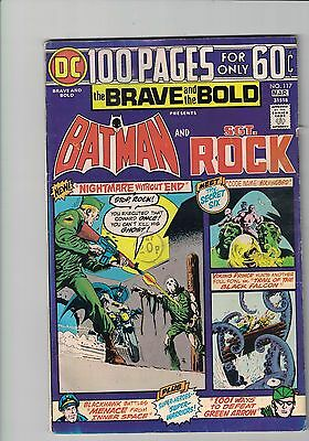 DC Comics The Brave And The Bold #117 March 1975  Batman  and Sgt Rock 60c