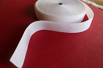 50mm Polypropylene Webbing 5 Metre White
