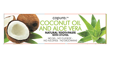 Copura Coconut Oil And Aloe Vera Natural Toothpaste With Xylitol 100Ml