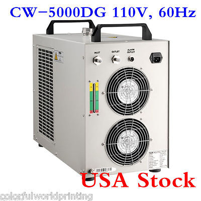 USA S&A!!! 110V 60Hz CW-5000DG Water Chiller for 80W/100W CO2 Laser Tube Cooling