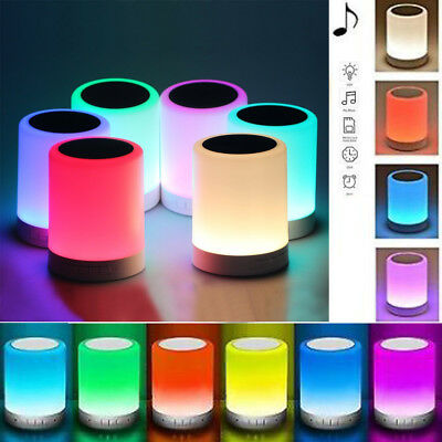 Portable Wireless Bluetooth Speaker Music Player Touch LED Lamp Night Light Bulb