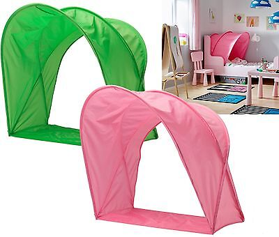 Ikea Sufflett Children's Bed Tent/ Canopy- For Kids Single Bed- Pink Or Green