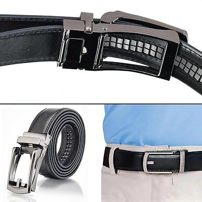 Fashion Men PU Leather Automatic Lock Buckle Comfort Click Belt Size 28″-48″