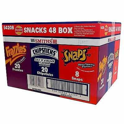 SMITHS WALKERS SNACK 48 Pack Variety BOX