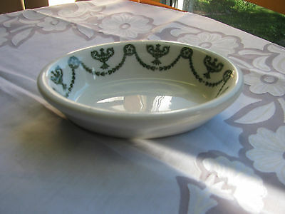 Syracuse China - Green Swags & Urns Ironstone St. Elmo Oval Soap Dish OP Co