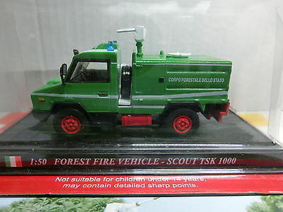 Feuerwehr Del Prado 1:50 Forest Fire Vehicle-Scout TSK 1000 Italien  (070/16)