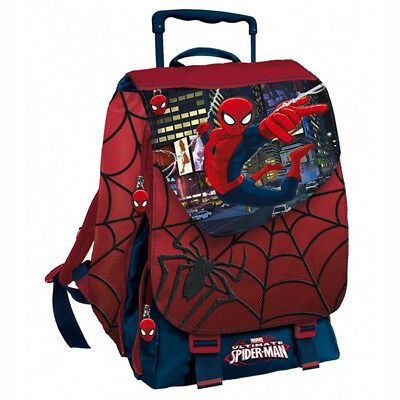 Zaino Cartella Trolley Con Estensibile Spiderman