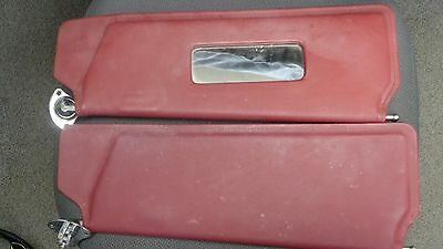1987 Bentley Rolls Royce Sun Visors Left and Right Red Leather