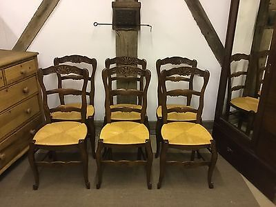6 French vintage oak dining chairs - FREE DELIVERY!!!