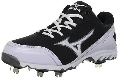 (10 D(M) US, Black/White) - Mizuno Men's 9-Spike Vapour Elite 6 Baseball Cleats.