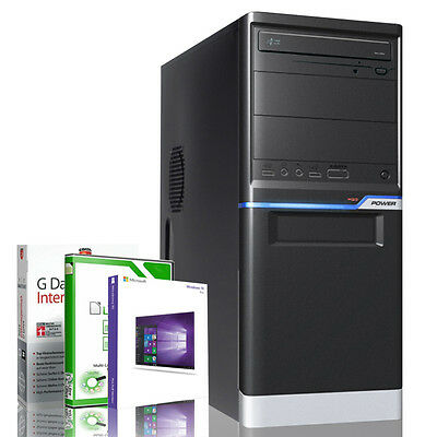 Office PC AMD Quad Core A10 8GB RAM 1000GB HDD Radeon HD7620 Windows 10 Pro