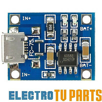TP4056 micro USB Module Lithium Battery LiPo Charge Charging Board 5V 1A Arduino