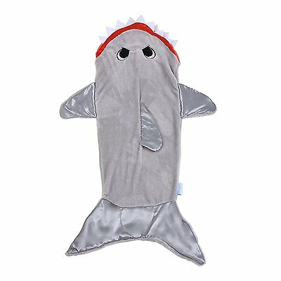 Snuggie White Shark Tail Blanket for Kids Boys Girls, Halloween gift, Gray Soft