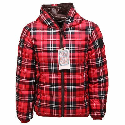 1007T piumino bimbo REPLAY quadri 100 grammi jacket kid