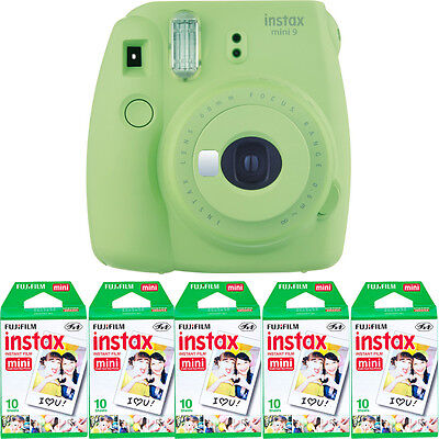 Fujifilm instax mini 9 Instant Film Camera LIME GREEN + 50 Mini Prints Film