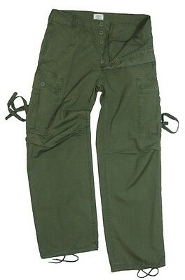 US Olive Green Tropical Jungle Trousers - Vietnam Era Pants American Army Sizes