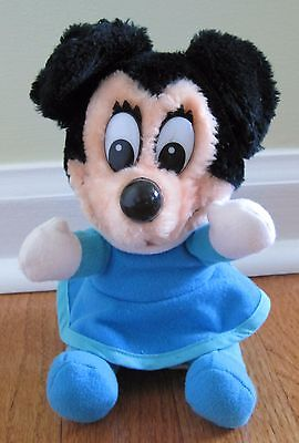 Vintage DIsney Mickey's Christmas Carol Plush Toy Doll Minnie Mouse Blue Dress