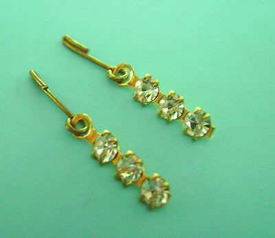 Vintage Doll Jewelry Rhinestone Earrings 4 Madame Alexander Cissy Elise Cissette