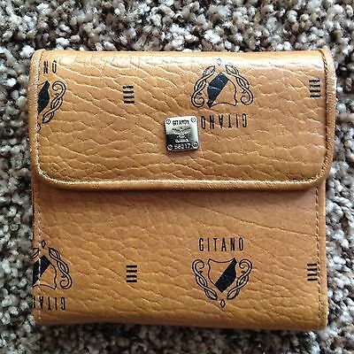 Vintage Gitano Brown Pocket Wallet NICE