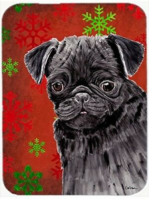 (Red and Green Snowflakes) - Caroline's Treasures SC9406LCB Pug Red and Green