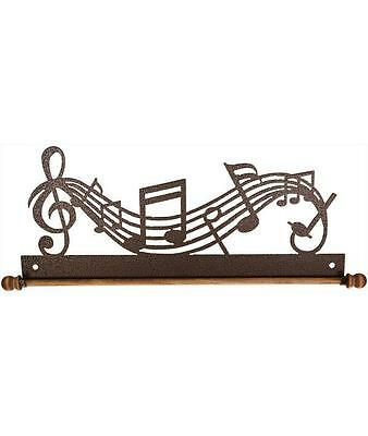 "Ackfeld 22"" Music Notes Metal Wall Craft Quilt Textile Holder Hanger Copper"