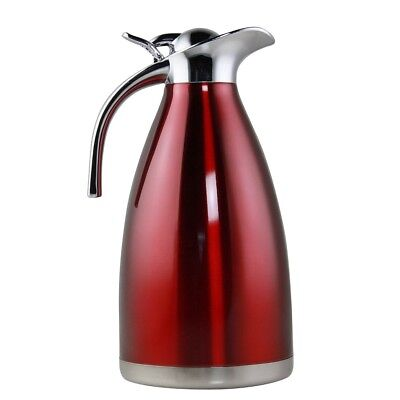 (Red) - Riwendell Stainless Steel Double Walled Vacuum Insulated Carafe