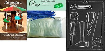 "(+25 Bag/Ties/Bk) - Cybrtrayd Mdk25BBk-D102 ""Tools New Dads"" Chocolate Candy"