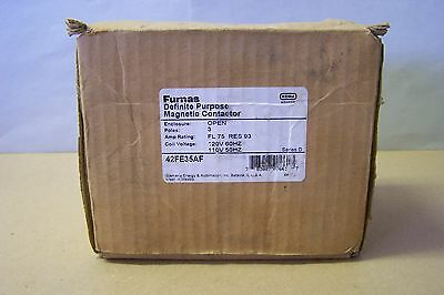 Furnas 42FE35AF Definite Purpose Magnetic Contactor 75FLA, 3P, 120V Coil, NEW