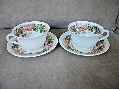 Wedgwood Wildbriar Cup & Saucer Autumn Leaves & Acorns VGUC Lot of 2 each