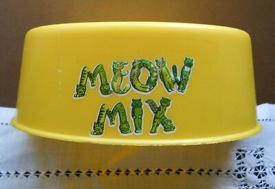 "RARE VINTAGE 1970s HARD PLASTIC ""MEOW MIX"" CAT FOOD BOWL - MAIL ORDER PREMIUM"