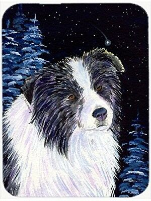 Caroline's Treasures SS8558LCB Starry Night Border Collie Glass Cutting Board,
