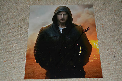 TOM CRUISE signed Autogramm 20x25 cm In Person JACK REACHER character teaser