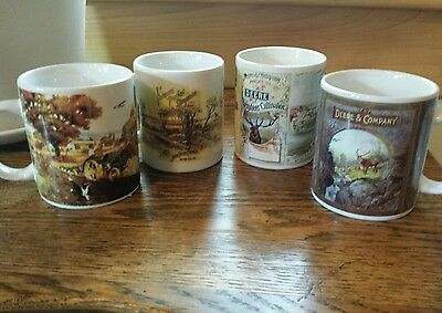Collectibles/Set Of 4 Gibson John Deere Coffee Mugs. Licensed. New.