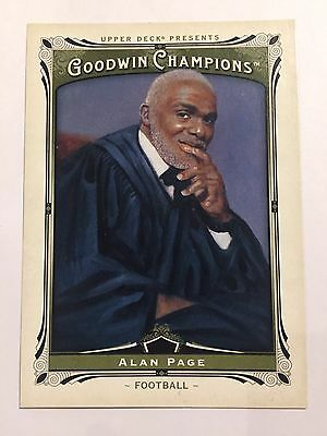 2013 Upper Deck Goodwin Champions Card - #147 Alan Page Football