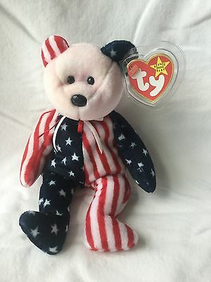 1999 Spangle Beanie Baby Pink Head Unstamped Tush Tag Poem Error Mint Condition