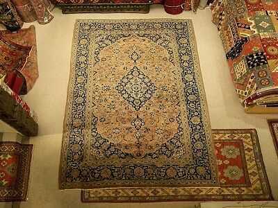 7.3 x 11 Handmade Antique Persian Oriental Wool Rug_ Muted Colors _Fine Quality