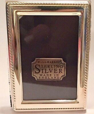 Hallmarked Sterling Silver English Picture Frame (New In Box)