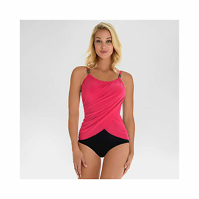 Aqua Green Brand Pink/Black One Piece Swimsuit Large (12/14) NWT Retail $39.99