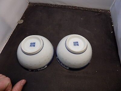 Antique  Chinese    Porcelain Bowls  chinese mark
