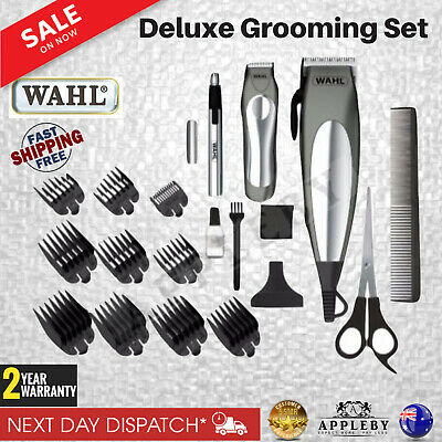 Wahl Hair Clippers Cordless Beard Trimmer Groomer Shaver Mens 21 Pce Haircut Set