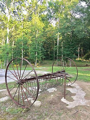 Old Hay Rake Farm Equipment Antique Tractor Implement