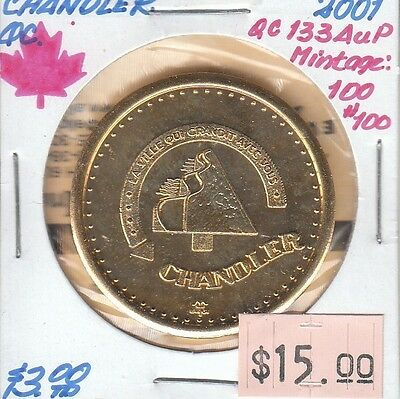 Chandler Quebec Canada - Trade Dollar - 2001 Gold Plated