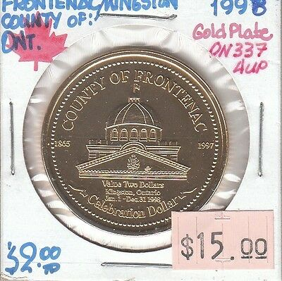 Kingston Ontario Canada - Trade Dollar - 1998 Gold Plated