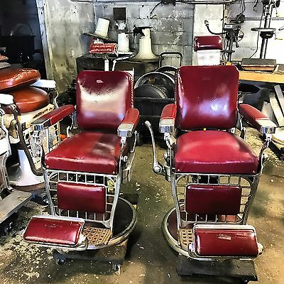 2 Antique barber chair Emil J Paidar