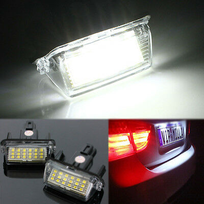 2x NUMBER PLATE LAMP PLAFON LUZ MATRICULA 18 LED PARA TOYOTA CAMRY YARIS HYBRID