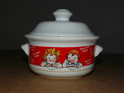 1 Campbell Soup Kids Crock Covered Bowl Dish with Lid Houston Harvest 1998
