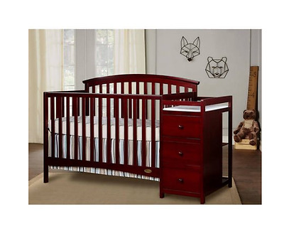 5 in 1 CHERRY Convertible Crib with Changer SET, Dream On Me Niko, NEW!!!