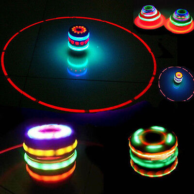 Super Magic Spinning Top Gyro Spinner Laser LED Music Flash Light Kids Toy Gifts