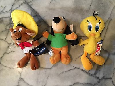 3 NWT Warner Brothers Cartoon Bean Bags